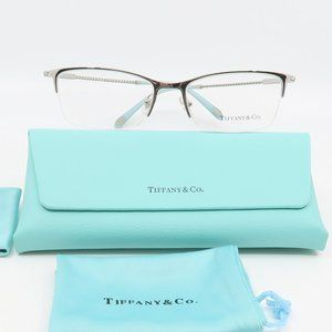 TF 1088B 6001 Tiffany & Co Silver Half-Rim Glasses